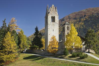 Switzerland, GraubŸnden (Canton), the Engadine, San Gian, Church, Ruin-Rainer Mirau-Photographic Print