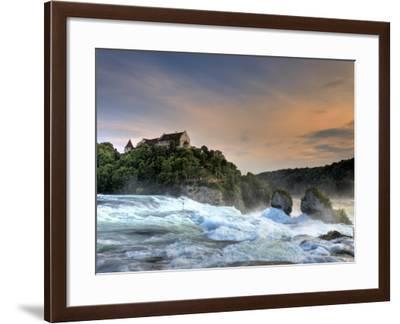 Switzerland, Schaffhausen, Rhine Falls / Rheinfall and Laufen Castle-Michele Falzone-Framed Photographic Print