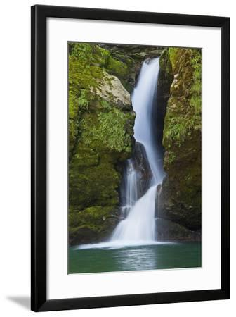 Switzerland, St. Gallen, River Thur (Village), Giessenfall (Waterfall), Waterfall, Detail-Rainer Mirau-Framed Photographic Print