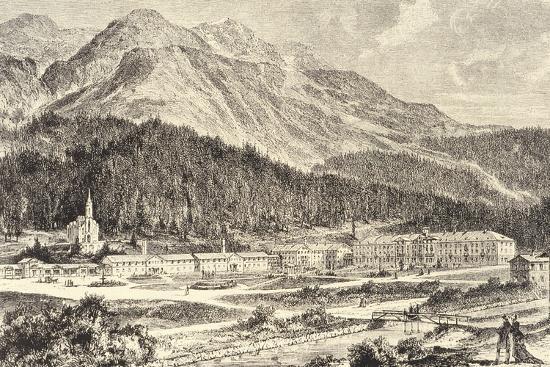Switzerland, St Moritz Bad in Graubunden--Giclee Print