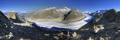 Switzerland, Valais, Jungfrau Region, Aletsch Glacier from Mt; Eggishorn (Unesco Site)-Michele Falzone-Photographic Print