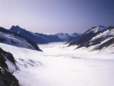 Switzerland, Valais, Mountain 'Jungfraujoch', Great Aletsch Glacier-Thonig-Photographic Print