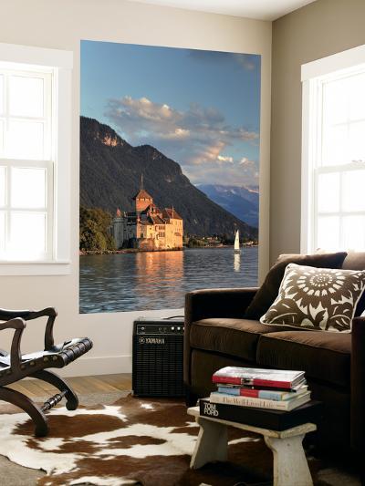 Switzerland, Vaud, Montreaux, Chateau De Chillon and Lake Geneva (Lac Leman)-Michele Falzone-Wall Mural