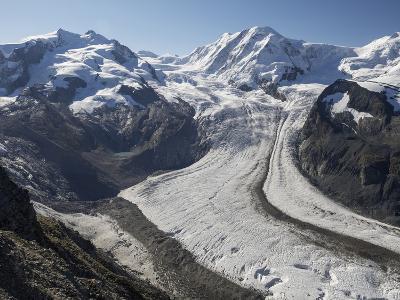 Switzerland, Zermatt, Gornergrat, View of Monte Rosa and Liskam-Jamie And Judy Wild-Photographic Print