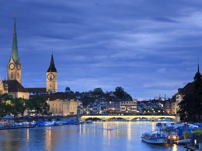 Switzerland, Zurich, Old Town and Limmat River-Michele Falzone-Photographic Print