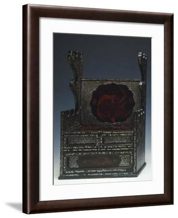 Sword-Bearer Produced in Okinawa Decorated with Inlaid Mother of Pearl and Phoenicians Figures--Framed Giclee Print