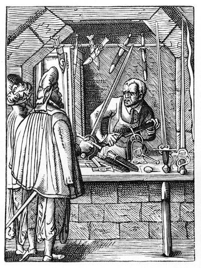 Sword Maker, C1559-1591-Jost Amman-Giclee Print