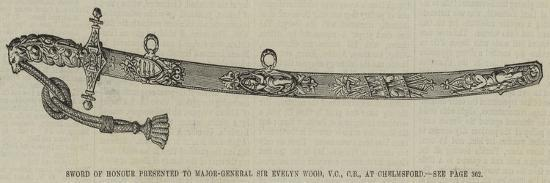 Sword of Honour Presented to Major-General Sir Evelyn Wood, Vc, Cb, at Chelmsford--Giclee Print