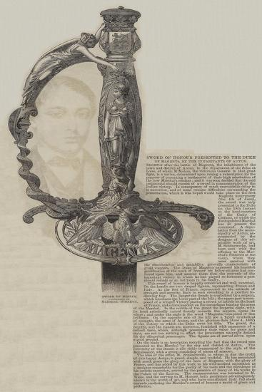 Sword of Honour Presented to the Duke of Magenta by the Inhabitants of Autun--Giclee Print