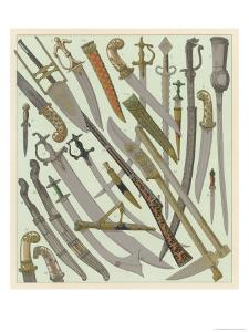 Swords and Daggers Mostly of Indian Orgin Some of Persian and Turkish
