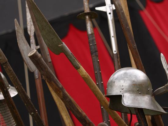 Swords and Helmet--Photographic Print