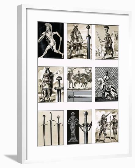 Swords - Fighting Blades of Europe-Dan Escott-Framed Giclee Print