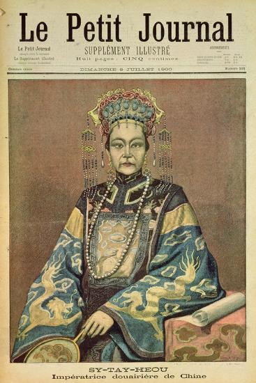 Sy-Tay-Heou, Empress of China, Title Page from 'Le Petit Journal', 8 July 1900--Giclee Print