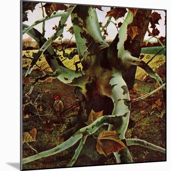 """Sycamore Tree and Hunter,"" October 16, 1943-Andrew Wyeth-Mounted Giclee Print"