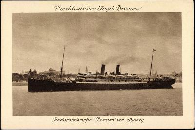 Sydney Australien, Postdampfer Bremen Der Ndl--Giclee Print