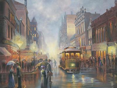 Sydney by Gaslight-John Bradley-Giclee Print