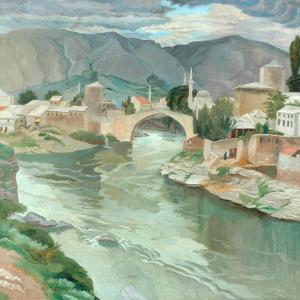 Mostar, Herzegovina, 1922 by Sydney Carline