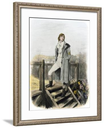 """Sydney Carton at the Guillotine in Dickens's """"A Tale of Two Cities""""--Framed Giclee Print"""