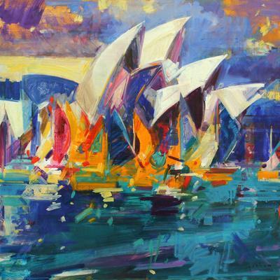 Sydney Flying Colours, 2012-Peter Graham-Giclee Print
