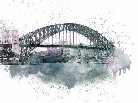 Sydney Harbor Bridge 2-Lebens Art-Art Print