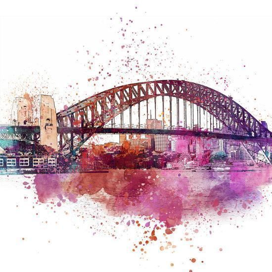 Sydney Harbor Bridge 4 - Square-Lebens Art-Art Print