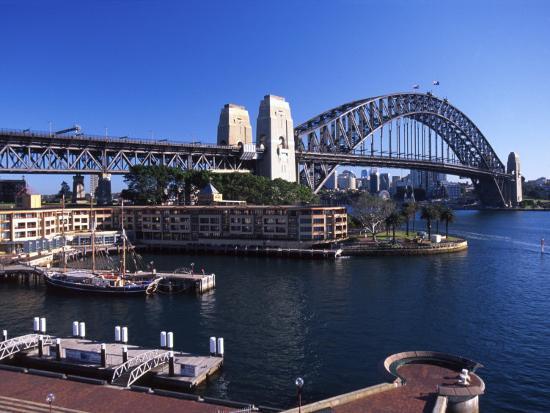 Sydney Harbor Bridge, Sydney, Australia-David Wall-Photographic Print
