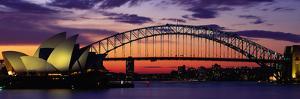 Sydney Harbour Bridge at Sunset, Sydney, Australia