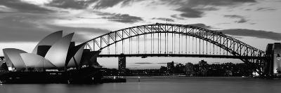 Sydney Harbour Bridge at Sunset, Sydney, Australia--Photographic Print