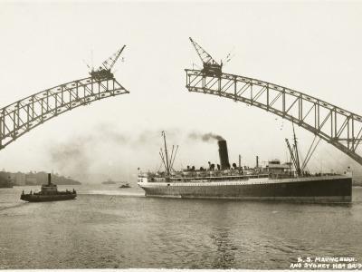 Sydney Harbour Bridge, Australia - Construction--Photographic Print