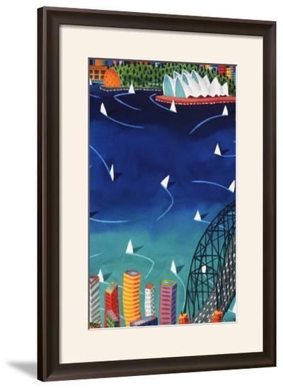Sydney Harbour-Ian Tremewen-Framed Art Print