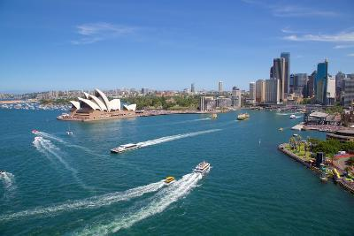 Sydney Opera House and Harbour, Sydney, New South Wales, Australia, Oceania-Frank Fell-Photographic Print