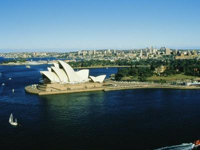 Sydney Opera House and Harbour, Sydney, New South Wales, Australia-Fraser Hall-Photographic Print