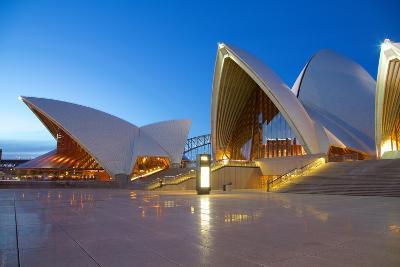 Sydney Opera House at Dusk, UNESCO World Heritage Site, Sydney, New South Wales, Australia, Oceania-Frank Fell-Photographic Print