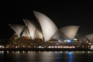 Sydney Opera House Lit Up at Night, Sydney, New South Wales, Australia