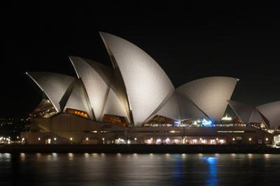 Sydney Opera House Lit Up at Night, Sydney, New South Wales, Australia