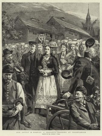 Our Artist in Norway, a Peasant's Wedding at Vossevangen