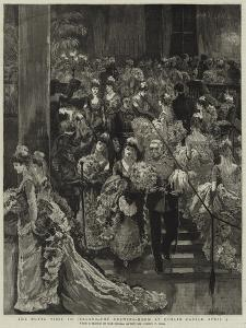 The Royal Visit to Ireland, the Drawing-Room at Dublin Castle, 9 April by Sydney Prior Hall