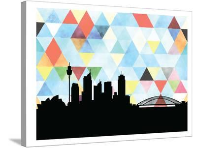 Sydney Triangle-Paperfinch 0-Stretched Canvas Print