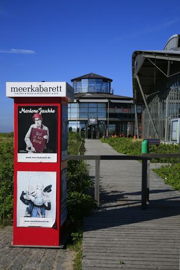 Sylt Quelle' (Restaurant) with 'Meerkabarett' (Theater-Uwe Steffens-Photographic Print