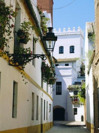 Quiet Street in Seville, Andalucia, Spain