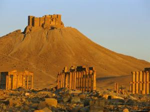 The Archaeological Site and Arab Castle, Palmyra, Unesco World Heritage Site, Syria, Middle East by Sylvain Grandadam