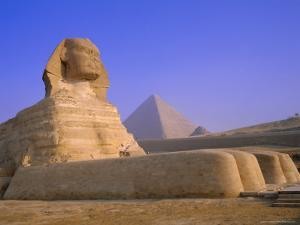 The Sphinx and Pyramid of Cheops at Sunrise, Giza, Cairo, Egypt by Sylvain Grandadam