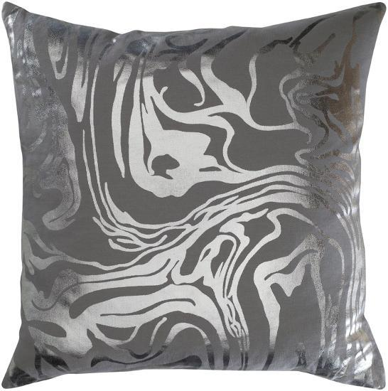 Sylver 20 X 20 Pillow Cover Charcoalsilver Home Accessories By
