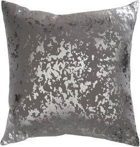 Sylverstone 18 x 18 Poly Fill Pillow - Charcoal/Silver