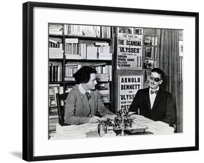 Sylvia Beach and James Joyce, c.1922-French Photographer-Framed Photographic Print