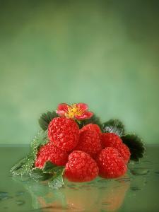 Raspberries by Sylvia Bissonnette