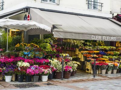Flower market, Rue Cler, Paris