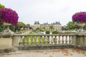 Jardin Du Luxembourg with Palace du Luxembourg with formal garden by Sylvia Gulin