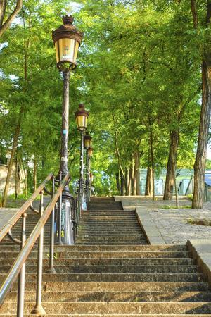 Stairs leading up to Montmartre
