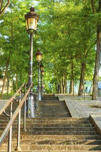 Stairs leading up to Montmartre by Sylvia Gulin
